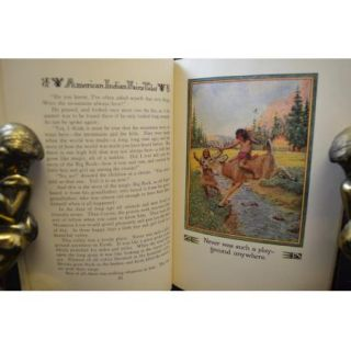 COLOR PRINTS American Indian Fairy Tales 1935 JOHN RAE ART LARNED BOOK