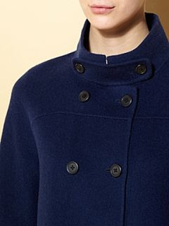 Weekend MaxMara Avana virgin wool short coat Blue