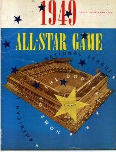 3011 1949 Baseball All Star Game Program at Ebbets Field Brooklyn
