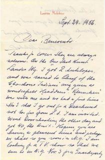 Lauritz Melchior Autograph Letter Signed