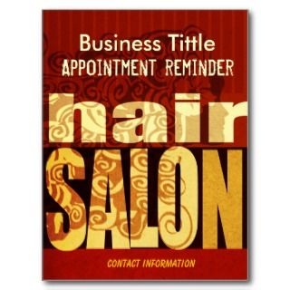 Beauty Salons & Spa Hairstylist Urban Modern Postcard