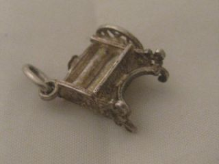 Vintage 1960s Silver Mangle Clothes Wringer Charm