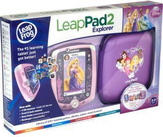 Leap Frog Leap Pad 2 Explorer Pink Disney Princess Bundle Brand New