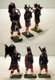 finely repained BRITAINS & J.HILL&CO lead SCOTTISH HIGHLAND PIPERS