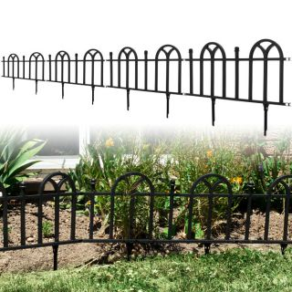 4pcs Victorian Garden Border Fencing Set Stylish Landscape Accent NEW
