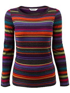 East Stripe scoop neck jumper Multi Coloured