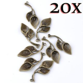 Bail Leaf Bead Pendant Charms Spacer Findings Jewelry Making