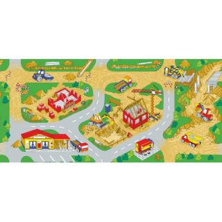 Learning Carpets Play Carpet Construction Zone Kids Rug 3 x 68