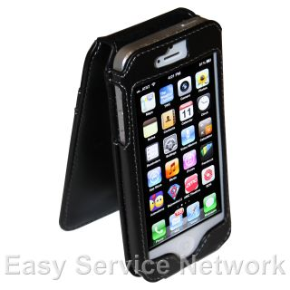 Black Leather Case Belt Clip Credit Card Holder Screen Protector for