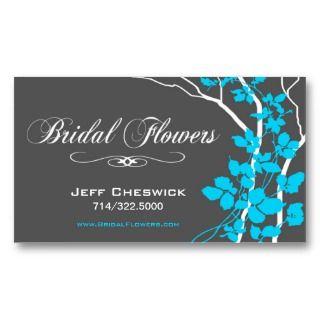 Floral Arrangements Special Thanks Business Card