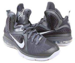 Nike Lebron 9 Sz 8 Mens Basketball Shoes Gray White Silver