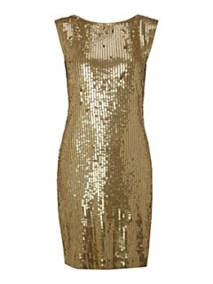 Michael Michael Kors Sleeveless sequin dress with back detail Nearly Black