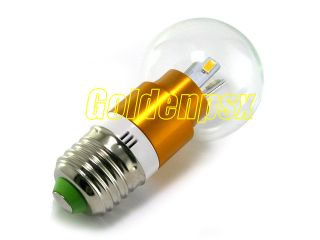 110V AC 2 5W 6 Warm White LED Globular Light Bulb E27 Base