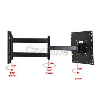 Full Motion Flat Panel LCD LED TV Monitor Wall Mount 22 24 26 27 32 37