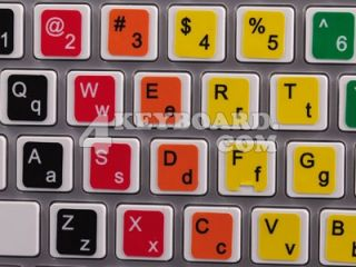 Learning English Colored Keyboard Sticker Lower Upper