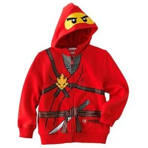 Lego Ninjago Boys Costume Ninja Hoodie Jacket Red Sweatshirts Size 5