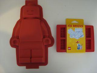 Lego Silicone Minifigure Cake Pan Mold Brick Tray Set