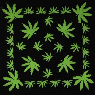 Marijuana Leaf Pot Weed Chronic Ganja Bud 420 Bandana Bandanna