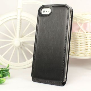 New Luxury Brushed Leather Sheath Case Cover for Apple iPhone 5 5g 5th