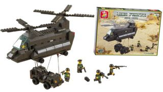 Army Helicopter Set with Jeep Lego Compatible 370pcs