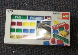 1978 LEGO 4.5 Volt Multi Purpose LED LIGHT BRICK SET #970 COMPLETE MIB