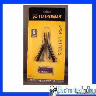 Leatherman 831194 Black Squirt PS4 Keychain Multi Tool 420HC Clip