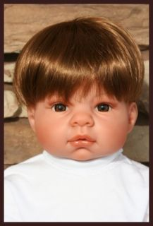 Lee Middleton Doll Light Brown Baby Wig Original Wig Used Size 14 15