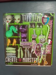 MONSTER HIGH Doll CREATE A MONSTER Mummy & Gorgon Girls Starter Pack