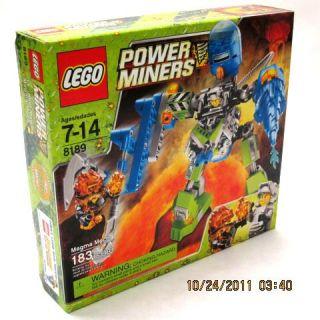 Lego Power Miners Set New 183 Pcs Set 8189 Magma Mech Building Toy