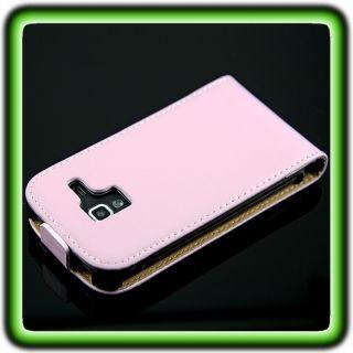 Leder Tasche F Samsung Galaxy Ace 2 I8160 Pink Leder Hülle Etui Slim