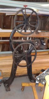 1890 Silver Band Saw 20 inch Sawing Antique Machine Vintage Crescent