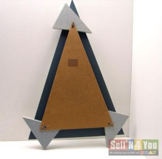 Modern Abstract Deco Triangle Contemporary Wall Mirror
