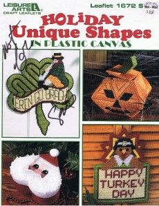 Leisure Arts 1672 Holiday Shapes Plastic Canvas Xmas