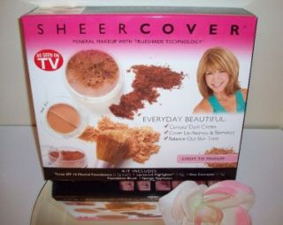 Sheer Cover Mineral Makeup 7pc Set Kit Light Medium