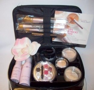 15pc Sheer Cover Mineral Makeup Set Kit Light Medium Latte Buff