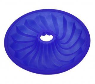 Lekue Silicone Bundt Cake Pan Mold Kitchen Bakeware Blue 10 inch Made