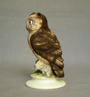 Vtg Hand Painted Lefton China Horned Owl Bird Bisque Porcelain