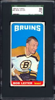 1964 65 Topps 63 Bob Leiter SGC 96 Low Pop