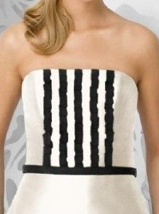 Lela Rose LR 106 Bridesmaid Dress Ivory Black 22
