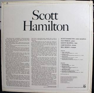 Hamilton Concord Jazz CJ 42 Self Titled Still SEALD LP 77 Leonard