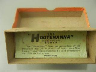 Vintage Antique Tackle Hootenanna Old Ohio Fishing Lure Wood