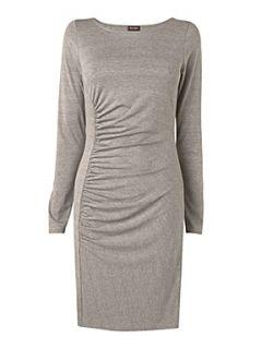 Phase Eight Chantelle ruched dress Mocha