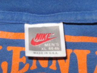 vintage NIKE LENNY WILKENS BASKETBALL CAMP T Shirt LARGE grey tag soft