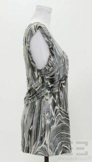 Leifsdottir Grey White Jersey Top Size M