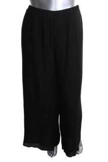 Sunny Leigh New Black Pleated Flat Front Lined Dress Pants Plus 2X