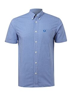 Fred Perry Short sleeve gingham shirt Blue