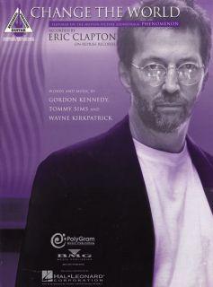 Hal Leonard Eric Clapton Change The World Guitar Tab