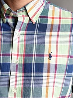 Polo Ralph Lauren Long sleeved pink plaid shirt Pink