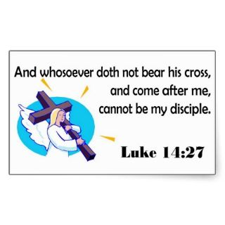 Angel carrying cross Christian design Stickers