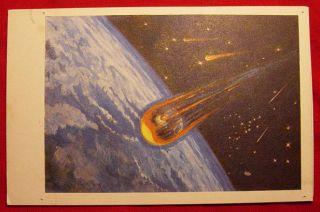 Vintage Soviet Space Postcard Sokolov Leonov 1969